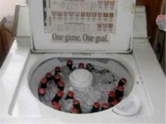 Redneck cooler-- I've been wondering what to do with my old washing machine!