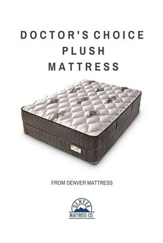 Sleep Healthier. Live Healthier.™ The Doctor's Choice gently cradles your body while you sleep, eliminating pressure points and tossing and turning. #denvermattress