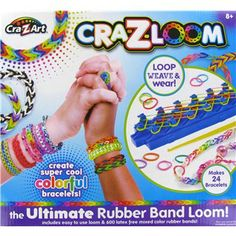 Design  make colorful rubber band bracelets, rings, pendants, key chains  more with this Ultimate Rubber Band Loom by Cra-Z-Art.