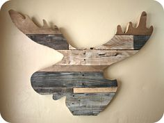 decor, craft, idea, reclaim wood, moose