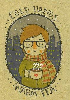 Cold Hands . .. Warm Tea illustration from The Tiny Hobo