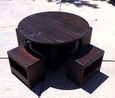 DIY Kids Storage Table & Stools