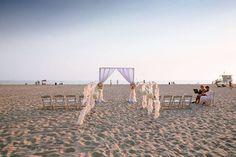 A simple ceremony on Hermosa Beach. Callaway Gable.