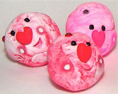 VALENTINES DAY Edition Polymer Clay Pet Rock by KatersAcres