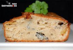Cake de gorgonzola y manzana