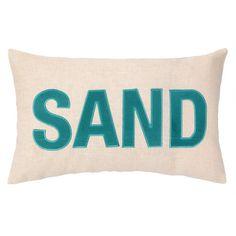 Peking Handicraft Nautical Applique Sand Pillow - perfect for a beachy breakfast nook!