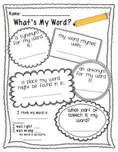 vocabulary game - what's my word?