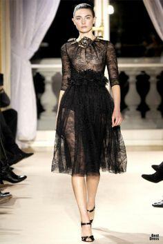 fashion weeks, paris fashion, giambattista valli, new fashion, design, black, lace dresses, haute couture, couture fashion