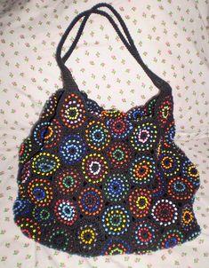 crochet  beaded bag
