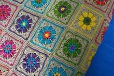 Crochet blanket flow