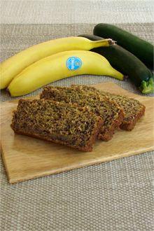 moist Chiquita Banana Zucchini Loaf  Recipe via @chiquitabrands #avocado #zucchini #Bananabread