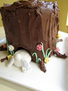 my button cake: chocolate buttermilk easter cake