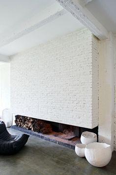 Love the brick fireplace