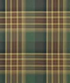 Ralph Lauren Hanley Plaid Chestnut/Sage Fabric