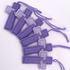 6 Cross Ornaments in  Shades of Purple by SuzanneMedrano on Zibbett $14.00