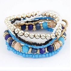 Bohemian Style Beaded Bracelet-multip strand