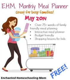 free meal, family planner, e.m.h. monthly meal planner, planning meals, may 2014 meal planning