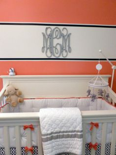 Monograms: Add a personal touch to your baby's nursery | #BabyCenterBlog #ProjectNursery