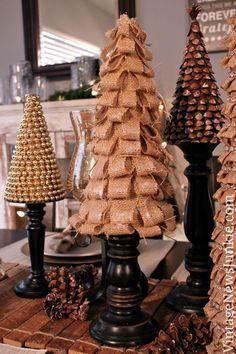 DIY Burlap Christmas Tree {Video Tutorial} #12DaysofTrees