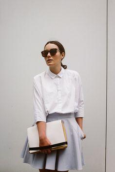 skater skirts, white collar