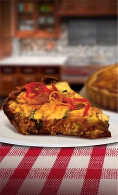 Pero Family Farm®s  Farmer's Quiche--So healthy and delicious!  This quiche is loaded with vegetables!