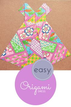 How to make an easy origami dress (tutorial video) from @HodgePodgeCraft