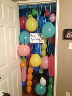 My husband is a big kid at heart. this was a perfect birthday morning surprise for him. balloons birthday surprise, kids birthday surprise ideas, birthday morning surprise, birthday ideas for husband, surprise birthday ideas, birthday surprise for kids, birthday balloons, surprise parties, husband birthday idea