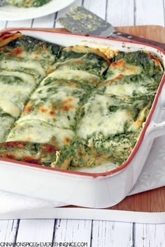 Butternut Squash Lasagna with Parmesan Spinach Sauce