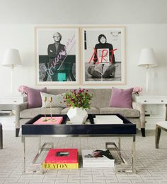 A playful yet super sophisticated living room. Rue mag, anniversary issue