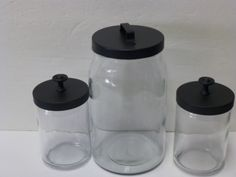 old candle jars, old knobs & spray paint. - cute way to recycle jars as gifts