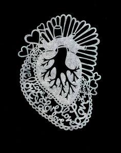Seacred Heart by Lala Gallardo - paper cut