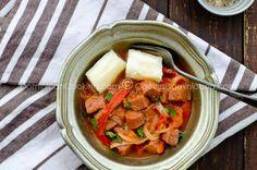 Salami guisado (Dominican sausage stew)