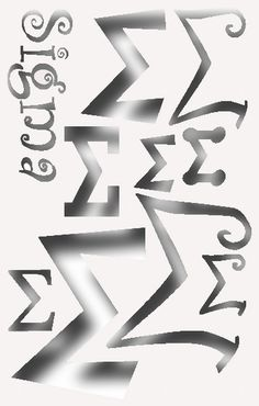 Greek Letter  Sigma Stencil for All your Sorority Crafting on Etsy, $3.99