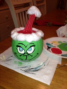 Grinch pumpkin :)