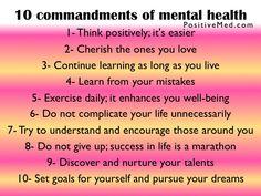10 commandments of mental health