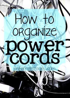 power cord organization, organis, clean, idea organ, powercord, hous idea, anna, organ power, cords