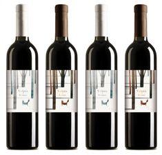 fox, wine packaging, wood wine, wine label