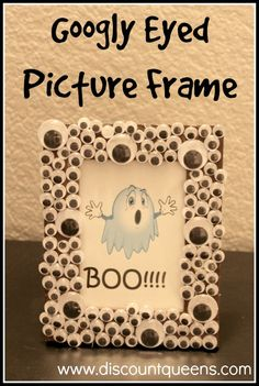 Discount Queens: Googly-Eyed Picture Frame