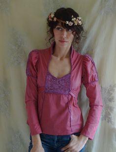Vintage Jessica's Gunnies Princess Blouse... Size Small... Gunne Sax Boho Hippie , via Etsy.