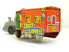 Marx Crazy Express tin wind up train  by Mylittlethriftstore, $26.00