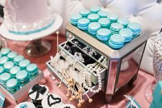 Tiffany's bridal shower Rock candy and jewelry box