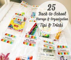 25 Back-to-School Storage & Organization Tips & Tricks