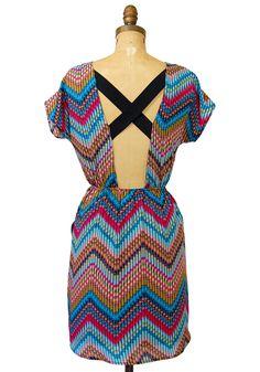 open-back chevron dress, $40