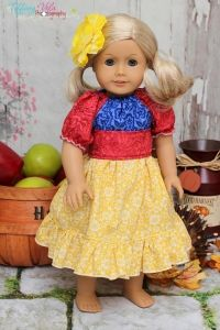 """Marissas Perfect Peasant Dress 18"""" Doll Size PDF Sewing Pattern by Create Kids Couture"""