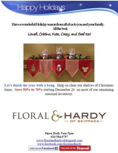 Email Marketing Tip: Don't forget to factor your last-minute email reminders into your holiday planning. You can come up with a list of last-minute gift ideas and promote them in the days leading up to the December holidays. Or help customers find last-minute decorations for their holiday parties.