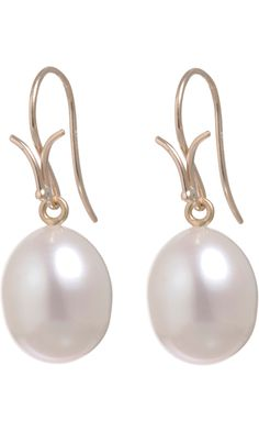 Dean Harris White Pearl Earrings