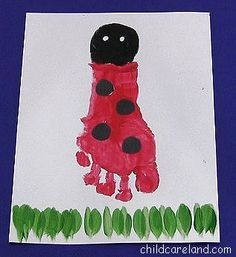 Footprint Ladybug  - Pinned by @PediaStaff – Please Visit ht.ly/63sNtfor all our pediatric therapy pins