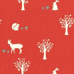 Storybook fabric from Birch Fabrics, love the red and cream.