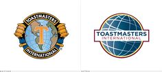 Toastmasters International Logo, Before and After