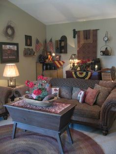 A Primitive Place ~ Primitive & Colonial Inpired Living Room